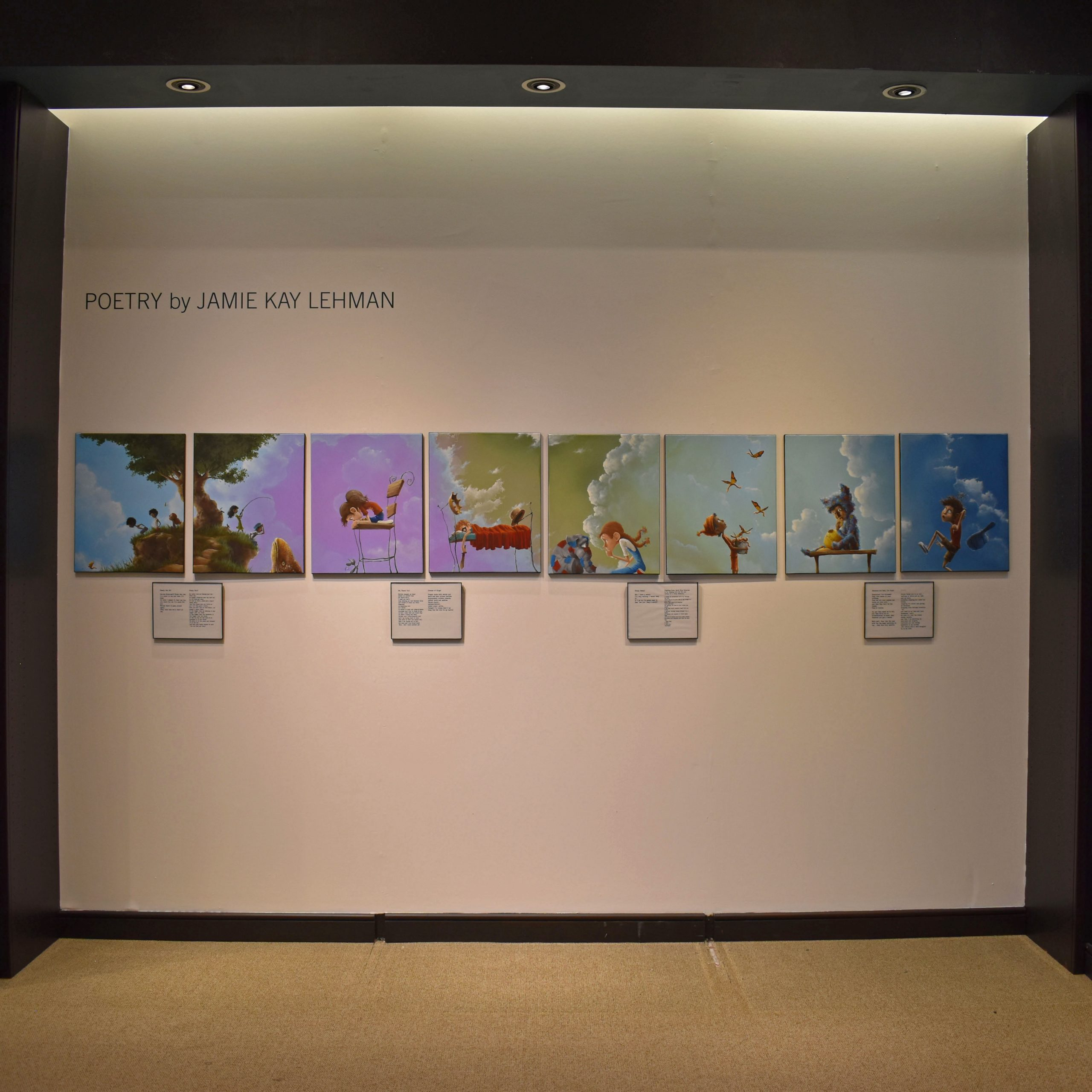 Selection of photos in the gallery with title card Poetry by Jamie Kay Lehman