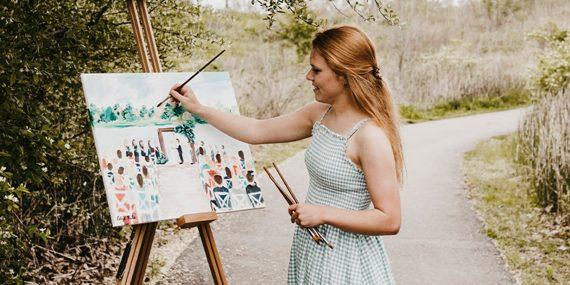 Live event painter Elise Jefferson