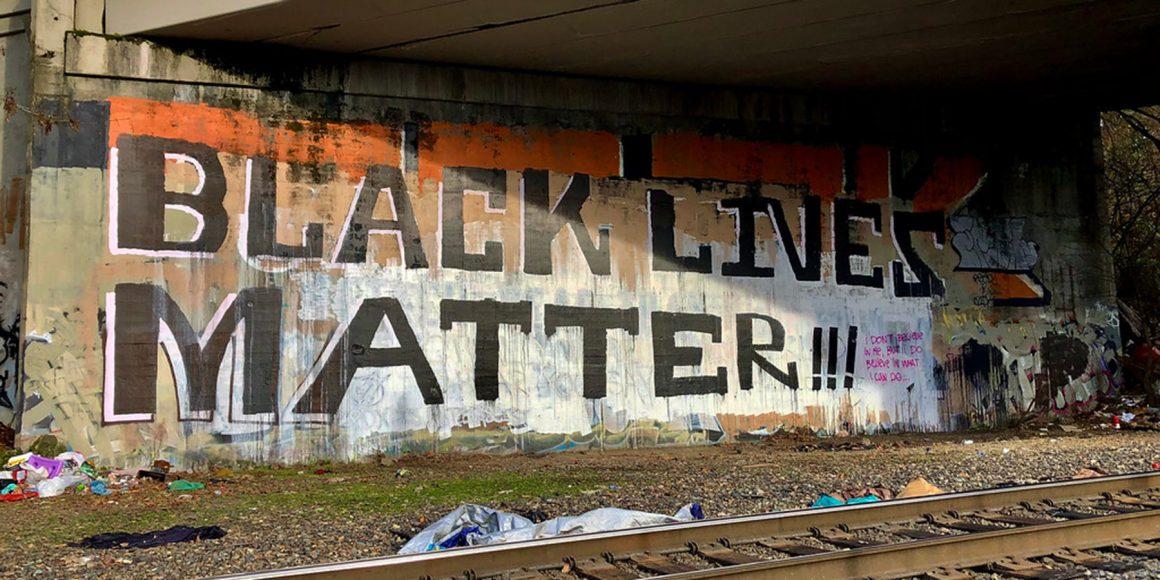 Black Lives Matter mural.