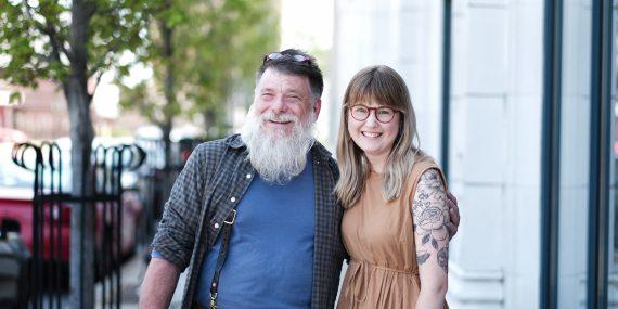 Geoff Davis and Hannah Lindgren.